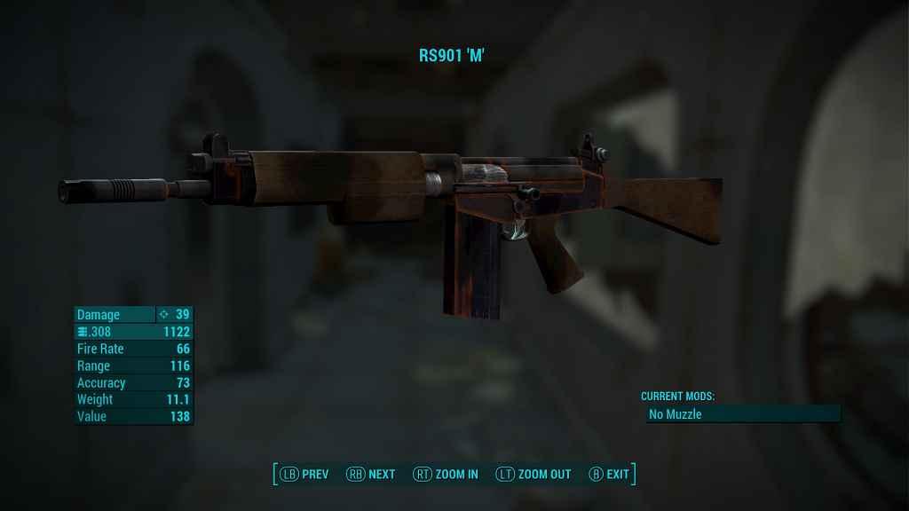 Fallout 4 — Автоматическая Винтовка R91 / RS 91
