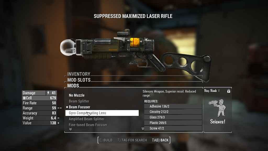Мод Fallout 4 — Глушители для лазерного оружия