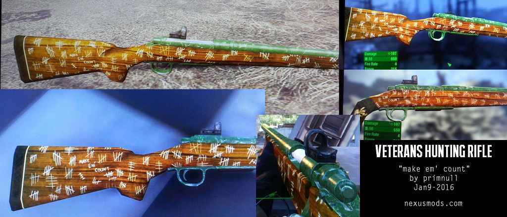 Мод Fallout 4 — Охотничья винтовка ветерана