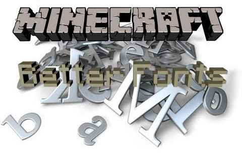Мод Minecraft — Better Fonts Mod