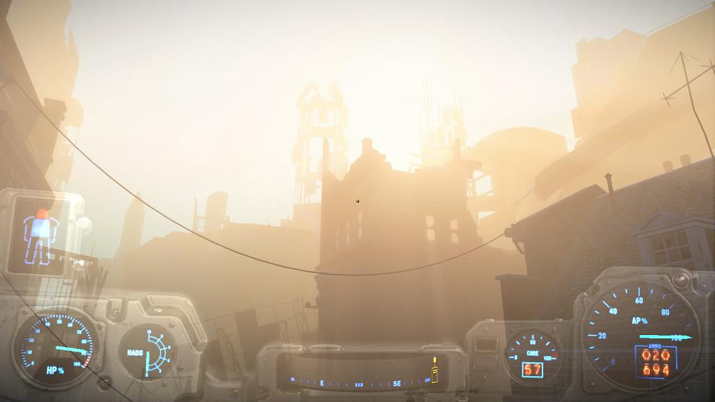 Мод Fallout 4 — Синий интерфейс Силовой Брони