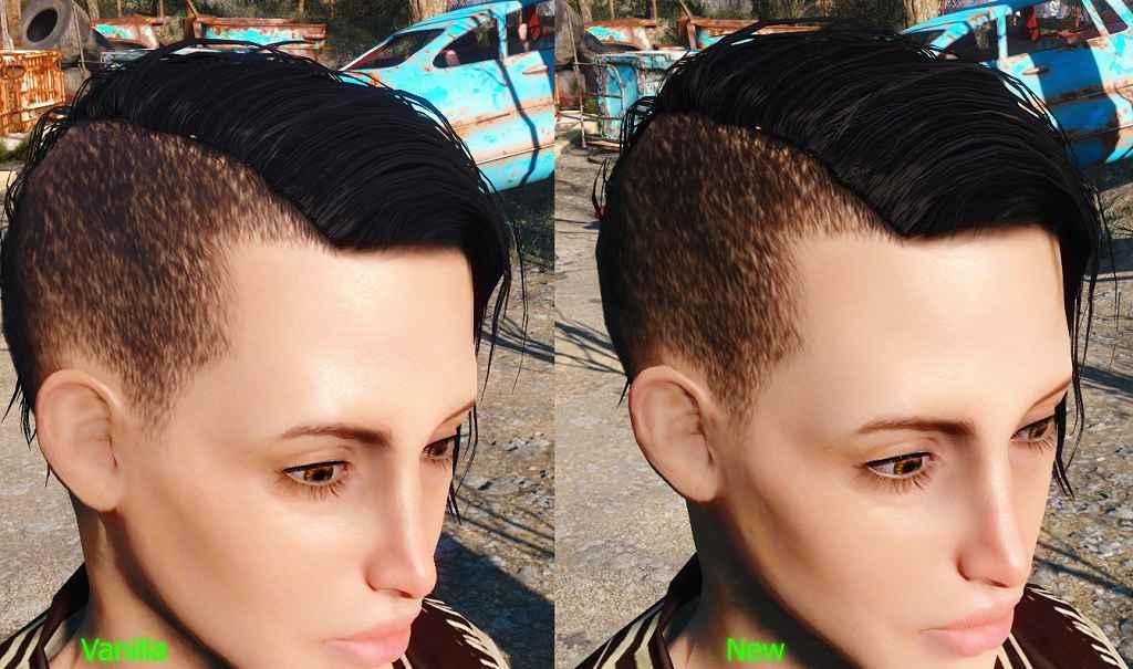 Fallout 4 — Улучшенные волосы