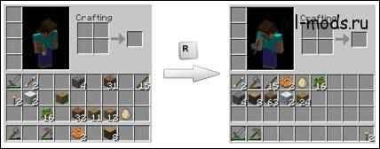 Мод Minecraft — Inventory Tweaks для 1.8.9/1.7.10