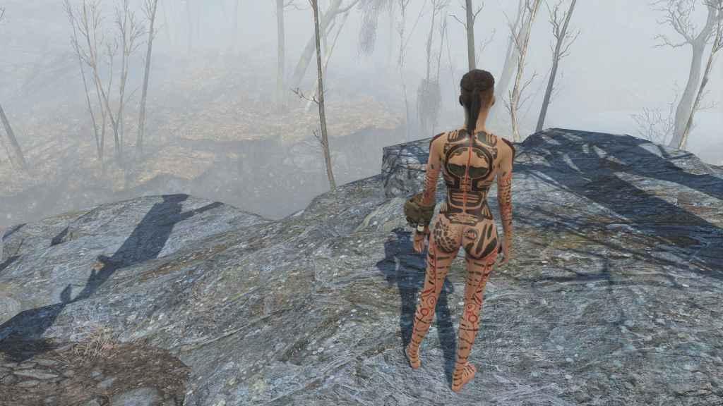 Мод Fallout 4 — Татуировки Джек из Mass Effect (для CBBE)
