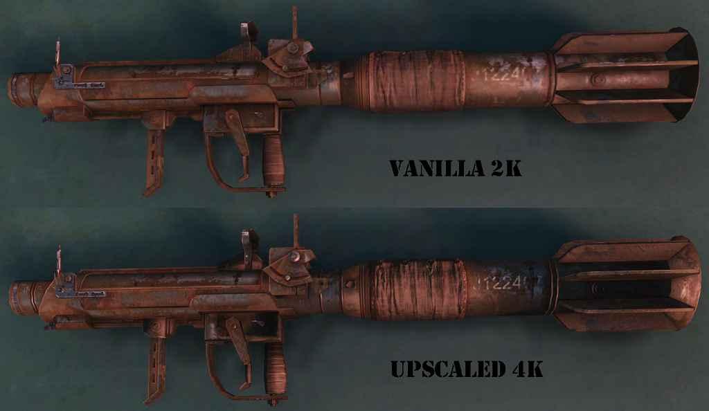 Мод Fallout 4 — 4к текстуры пусковой установки