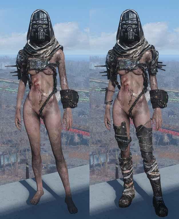 Мод Fallout 4 — Откровенная цепная броня