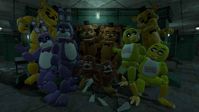 Мод Garry's Mod 13 — Five Nights at Freddy's Animatronics