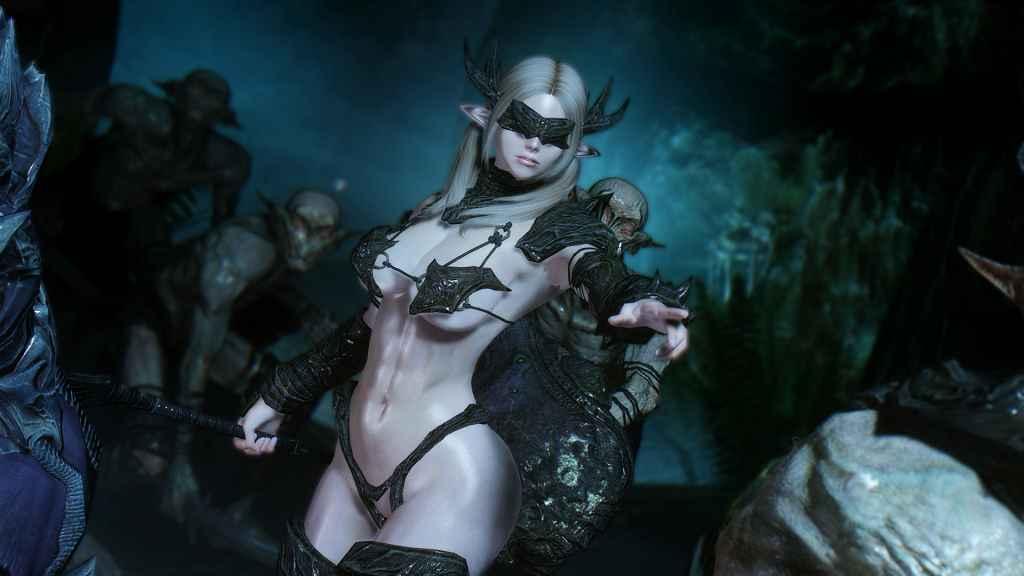 Мод Skyrim — Фалмерская броня-бикини (7bo body)