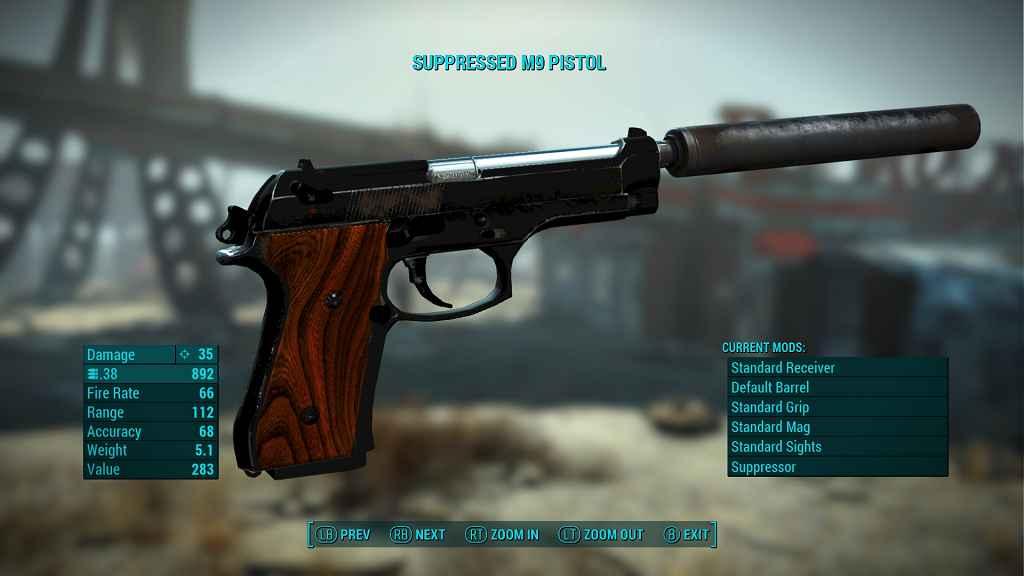 Мод Fallout 4 — Автономный пистолет M9