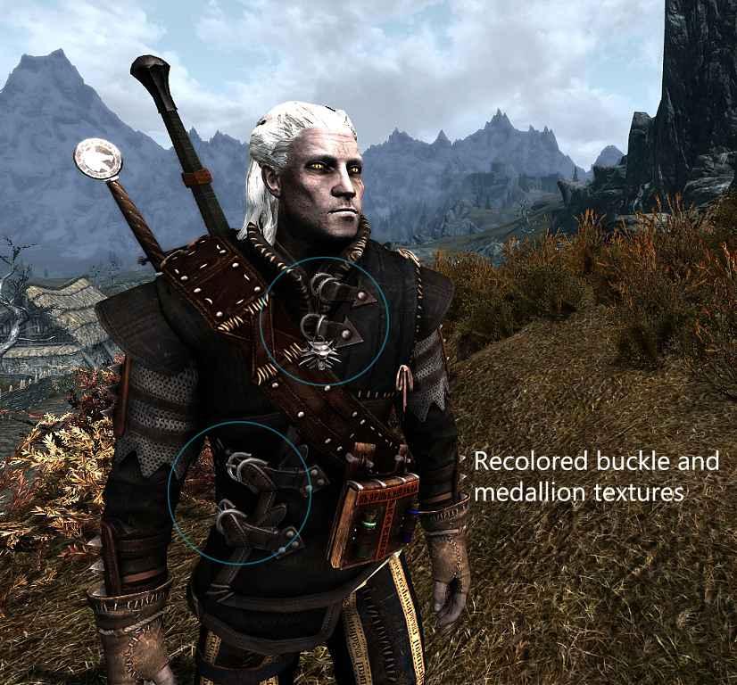 Мод Skyrim — Броня и Мечи Геральда из Witcher 2
