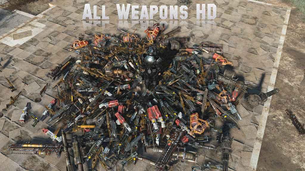 Fallout 4 — Улучшение текстур всего оружия!