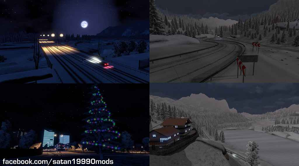 Мод ETS 2 — Зимний мод