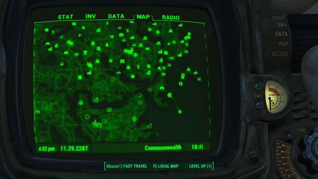 Мод Fallout 4 — Улучшение зума для «Альтернативной карты»