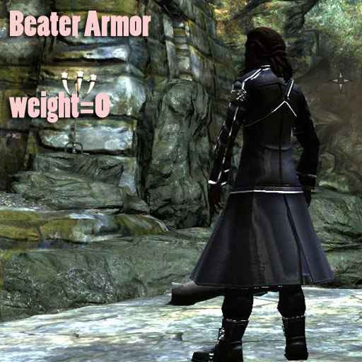 Мод Skyrim — Beater Armor is Kirito