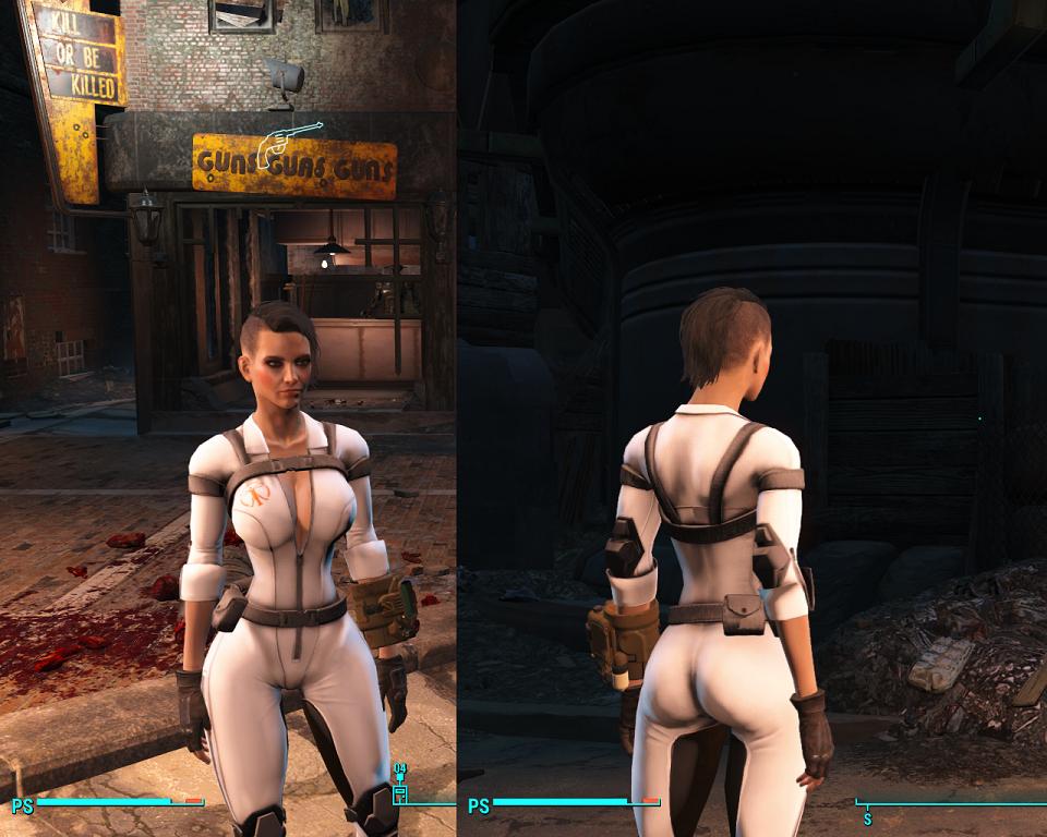 Мод Fallout 4 — Откровенный комбинезон Синтов (CBBE)