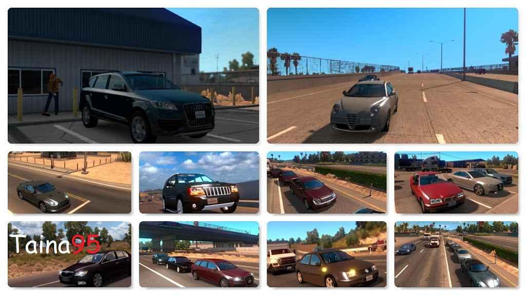 Мод ATS — Новые реальные автомобили в трафик