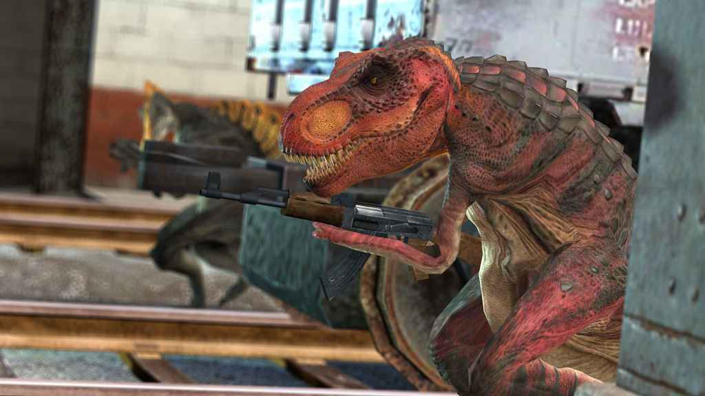 Мод Garry's Mod 13 — Модель игрока T. Rex + NPC