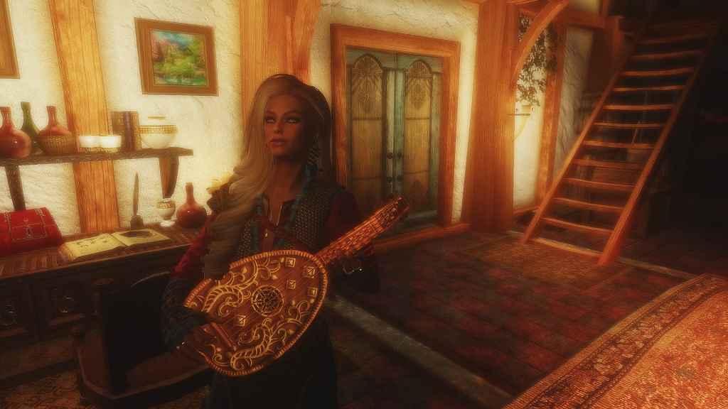 Мод Skyrim — Лютня из Ведьмака (Реплейсер)
