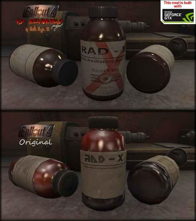 Мод Fallout 4 — Переработанный Rad-X. Реплейсер
