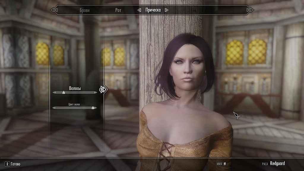 Мод Skyrim — женские прически с физикой