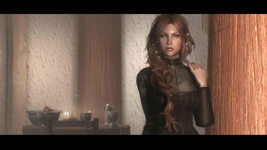 Мод Skyrim — Красивая спутница Данариэль с внутриигровой сменой тела