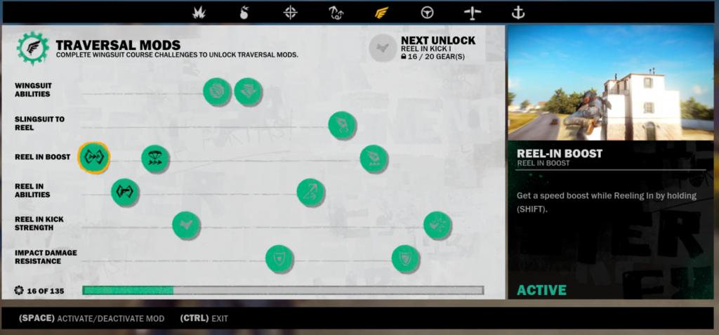 Just Cause 3 — Чит на разблокировку всех улучшений крюка и вингсьюта