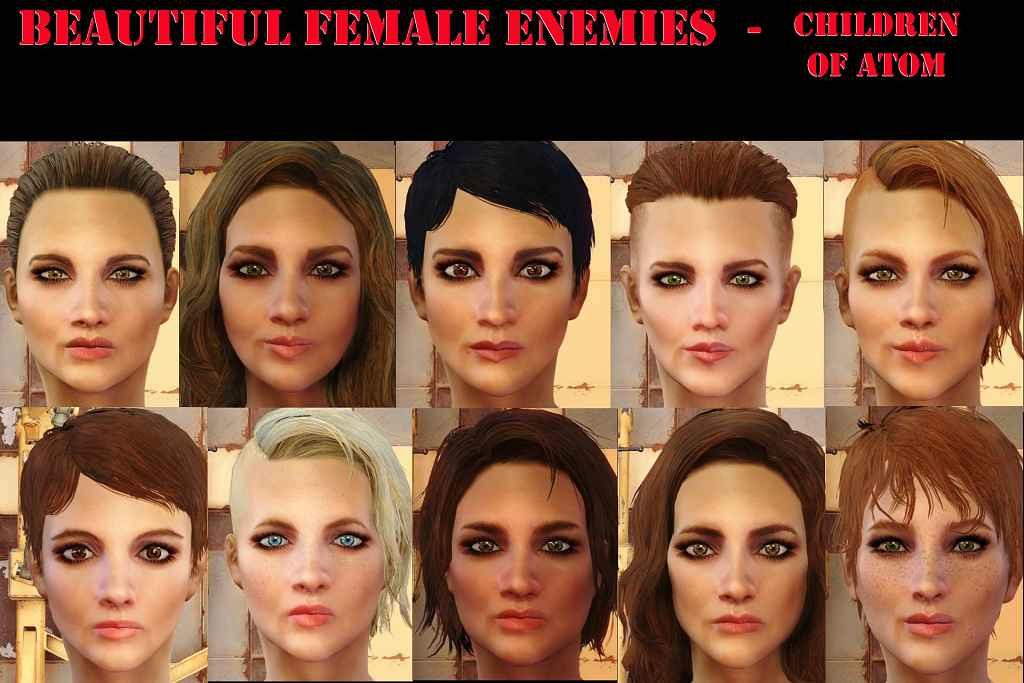 Мод Fallout 4 — Красивые девушки-противники