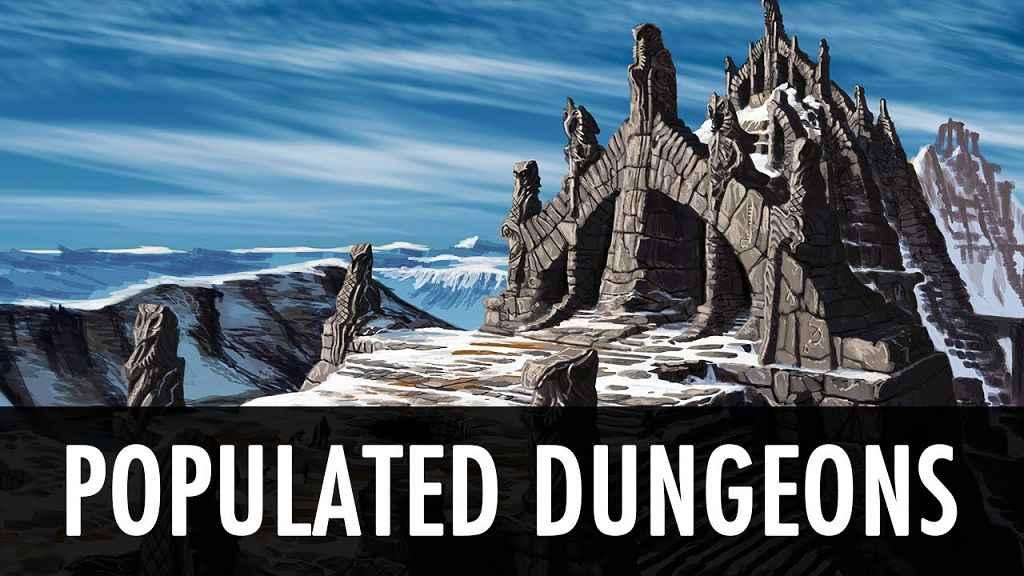 Skyrim — Населённые Подземелья (Больше противников)