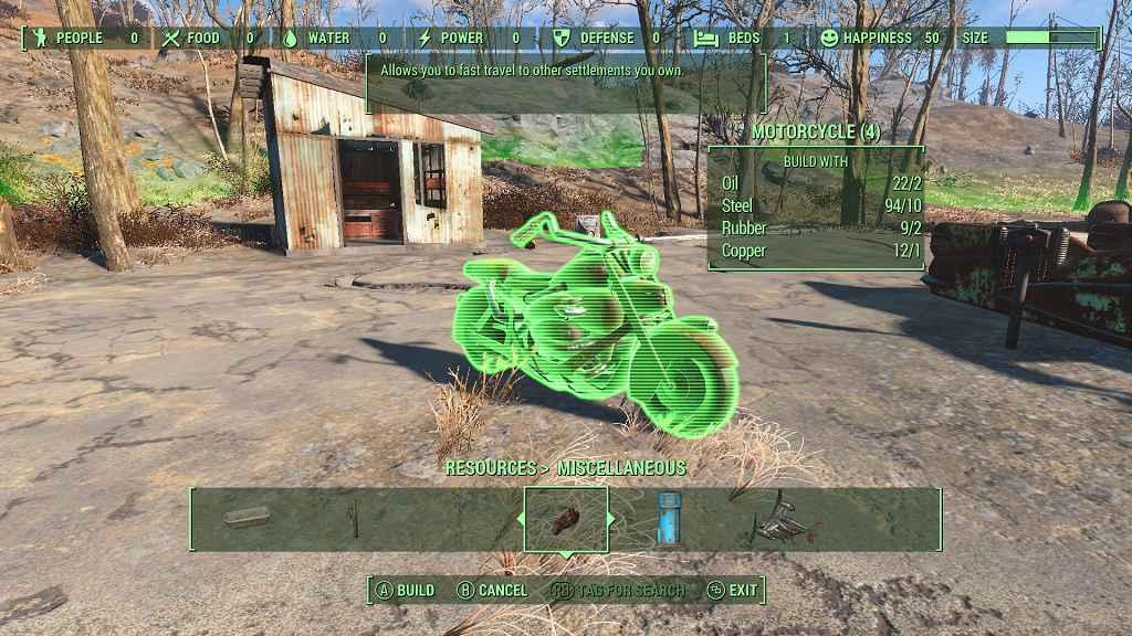 Мод Fallout 4 — Быстрое перемещение с помощью телепортов