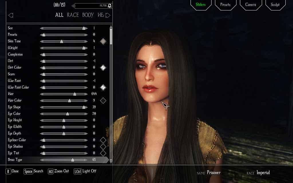 Мод Skyrim — Новый компаньон Виктория и пресет для RaceMenu и ECE