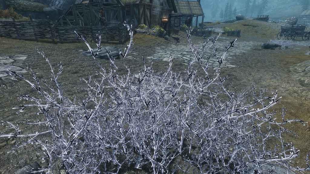 Мод Skyrim — HD Засохшие Кусты