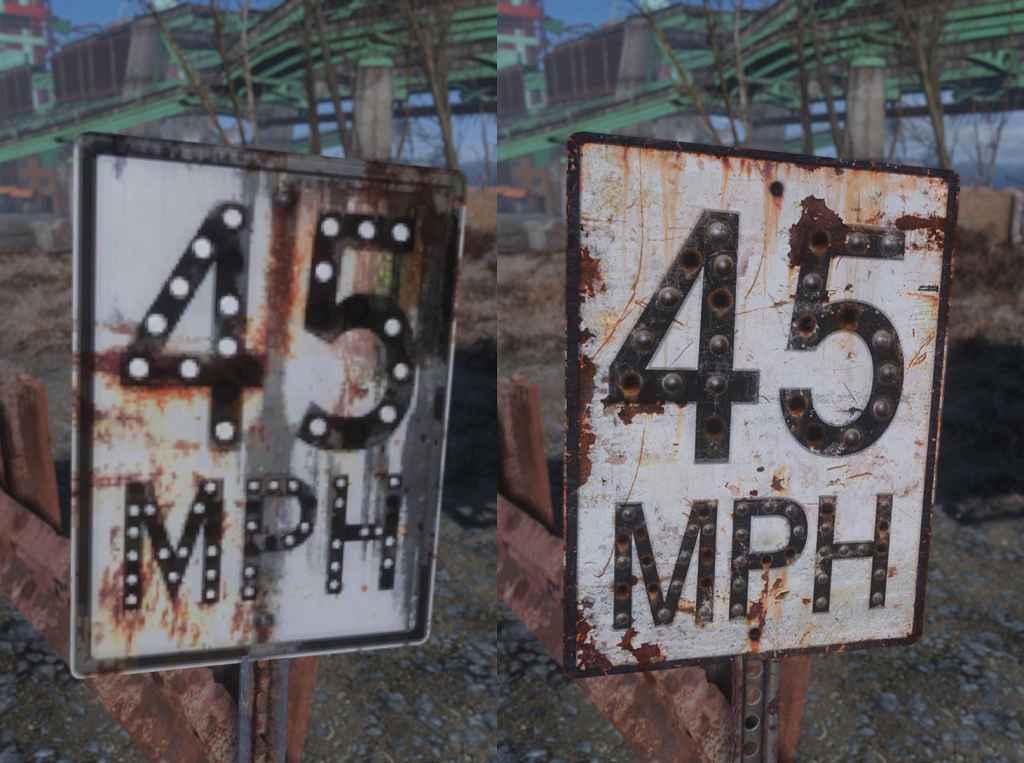 Мод Fallout 4 — Реплейсер дорожных знаков