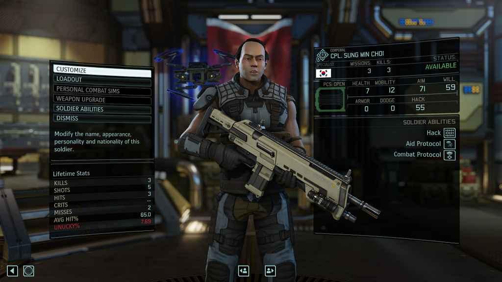 Модификация XCOM 2 — Подробная статистика бойцов