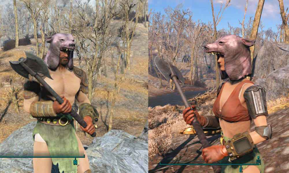 Мод Fallout 4 — Медвежий шлем