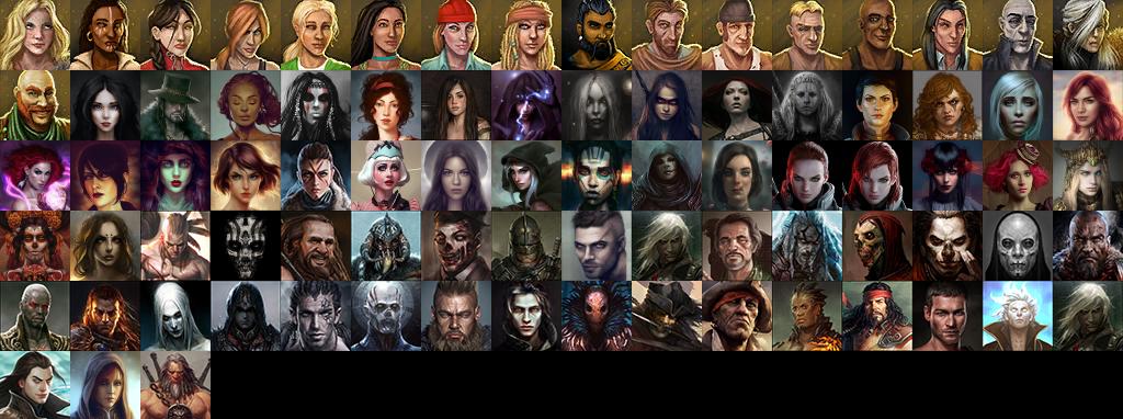Divinity: OS — Набор новых иконок персонажей