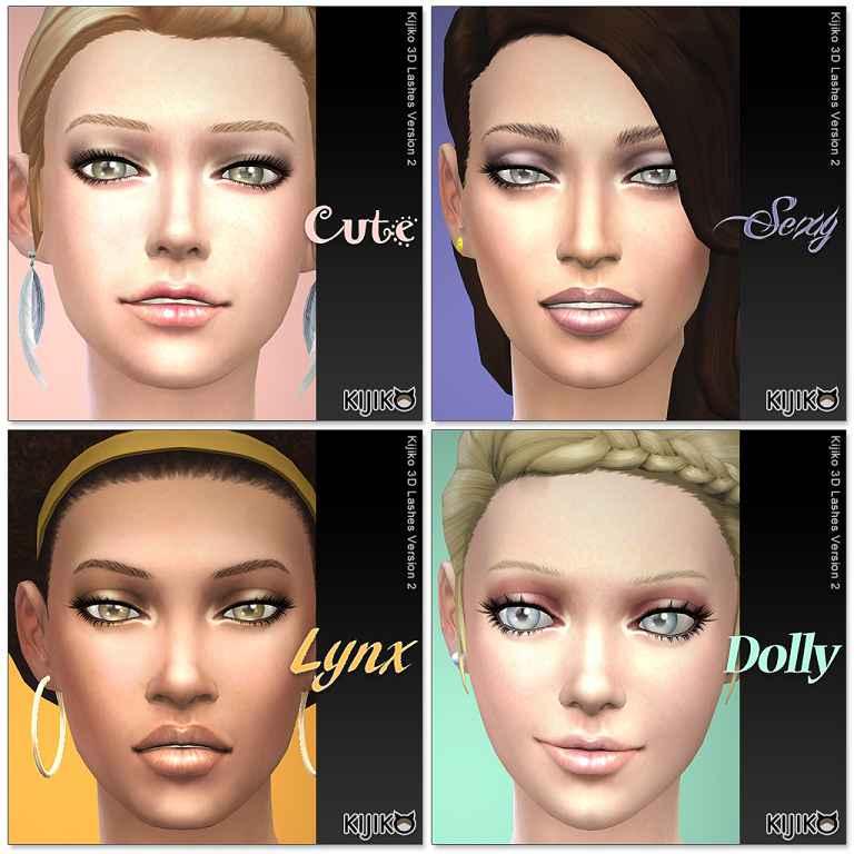 Мод Sims 4 — 3D ресницы