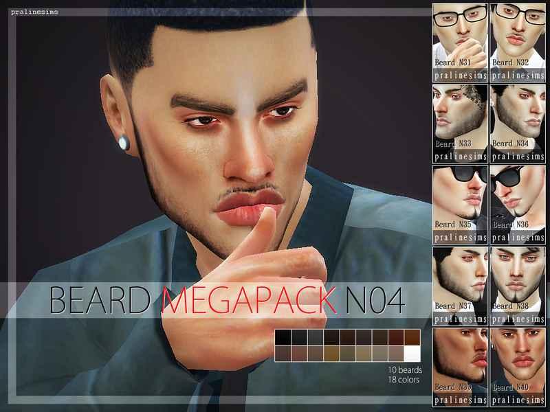 Мод Sims 4 — Новые бороды