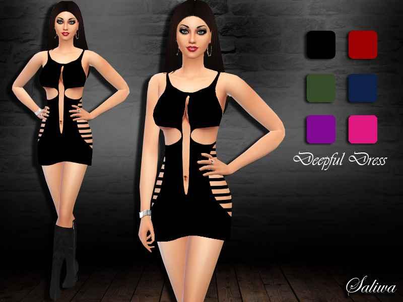 Мод Sims 4 — Откровенное платье
