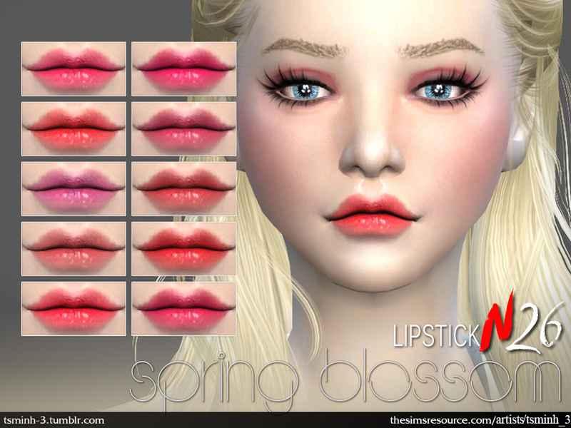 Мод Sims 4 — Пак губной помады