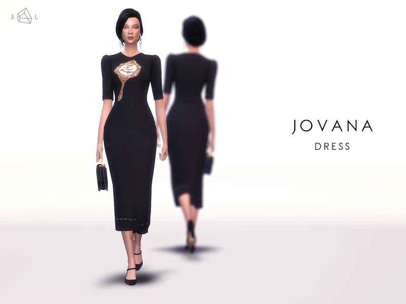 Мод Sims 4 — Элегантное платье