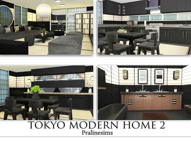 Мод Sims 4 — Современный японский дом