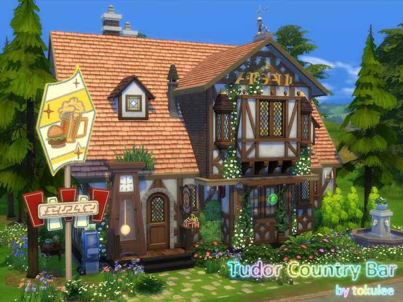 Sims 4 — Бар в классическом стиле
