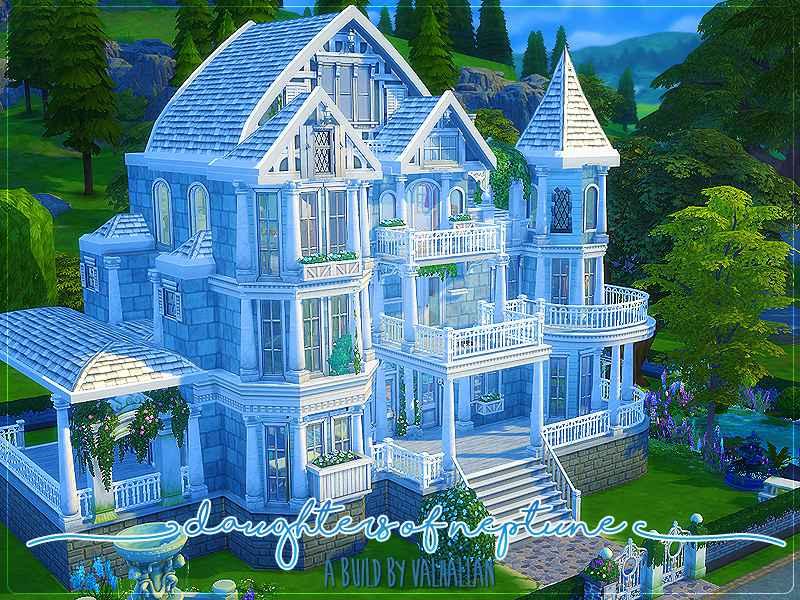 Sims 4 — Замок «Дочь Нептуна»