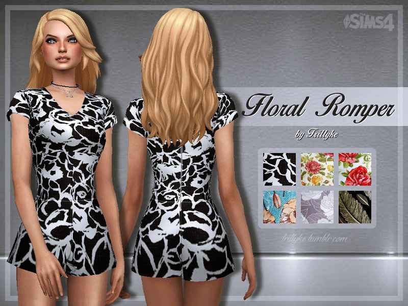 Мод Sims 4 — Весеннее мини-платье