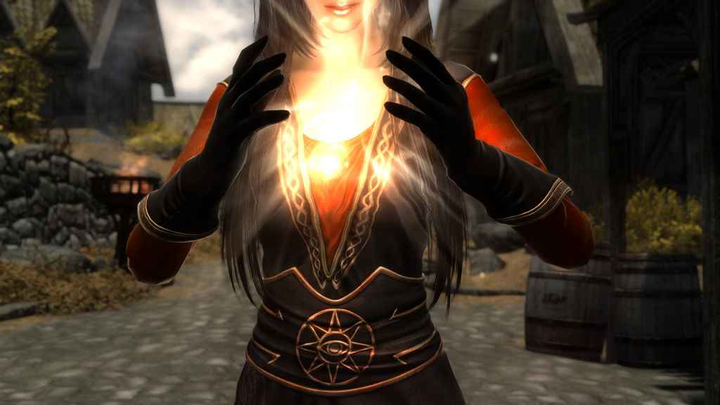 Мод Skyrim — Одеяние Лукреции Наварры (CBBE)