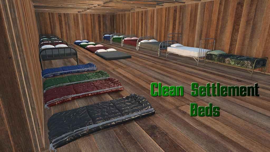 Мод Fallout 4 — Чистые кровати для поселений