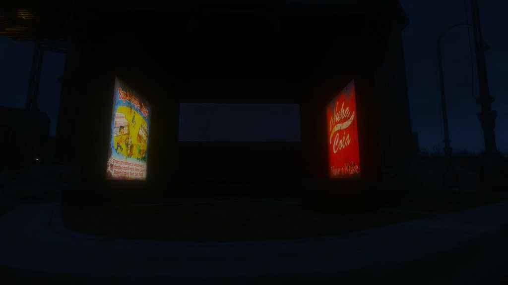 Мод Fallout 4 — Светящаяся реклама на автобусных остановках
