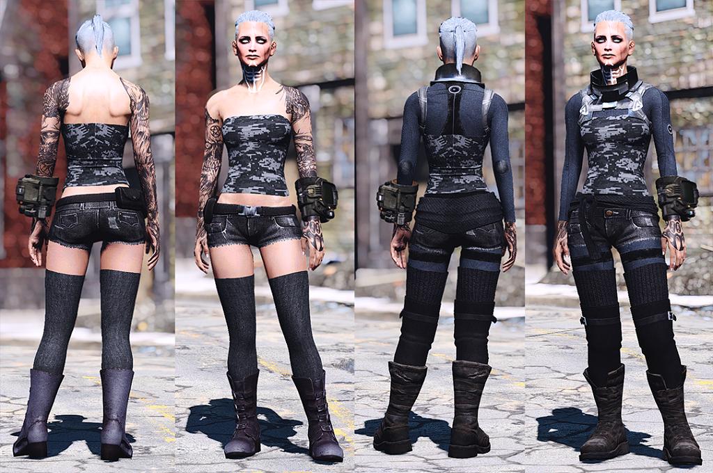 Мод Fallout 4 — Наряды Апокалипсиса (CBBE)