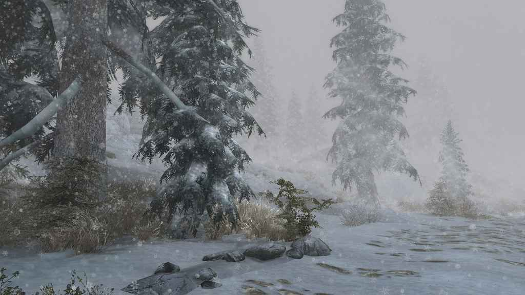 Skyrim — Падающие снежинки (Ultra HD)