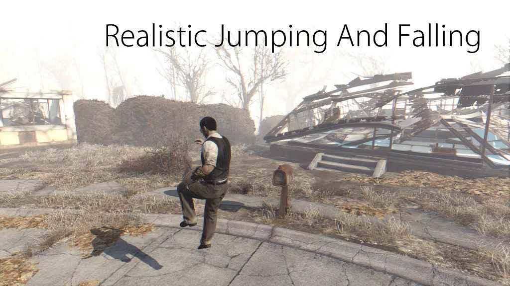 Мод Fallout 4 — Реалистичные прыжки и падения